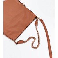 Tan Textured Oversized Shoulder Bag New Look