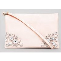 Shell Pink Embellished Cross Body Bag New Look