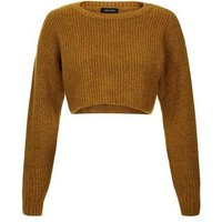 Yellow Cropped Jumper New Look