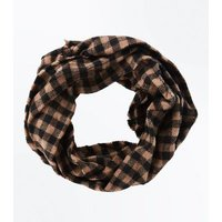 Mink Check Pattern Snood New Look