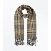 Mink Check Scarf New Look