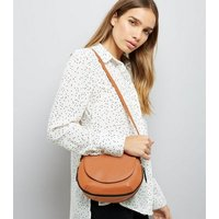 Tan Zip Trim Saddle Bag New Look
