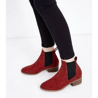 Teens Rust Suedette Chelsea Boots New Look