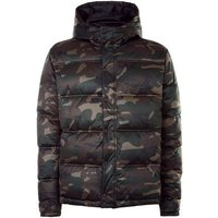 Khaki Camo Padded Puffer Jacket New Look