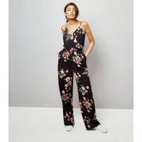 Tall Black Floral Print Jumpsuit New Look