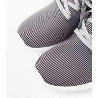 Mens Grey Runner Lace Up Trainers New Look