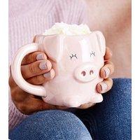 Shell Pink Pig Mug New Look