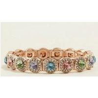 Multi Colour Diamante Embellished Bracelet New Look
