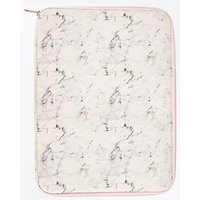 White Marble Print Laptop Case New Look