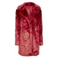 Parisian Red Faux Fur Jacket New Look