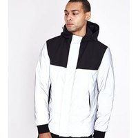 Silver Reflective Parka New Look
