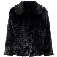 Mela Black Faux Fur Jacket New Look