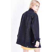 Black Longline Denim Jacket New Look