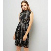Mela Black Embellished Bodycon Dress New Look