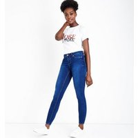 Blue Super Soft Super Skinny Ankle Grazer India Jeans New Look