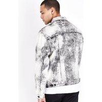 Black Acid Wash Denim Jacket New Look