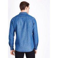 Blue Long Sleeve Denim Shirt New Look