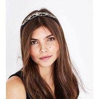 Black Diamante Embellished Headband New Look
