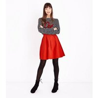 JDY Red Pleated A-Line Skirt New Look