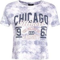Teens Light Grey Tie Dye Printed T-Shirt New Look