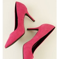 Bright Pink Suedette Pointed Court Shoes New Look