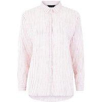 Red Stripe Drop Sleeve Shirt New Look