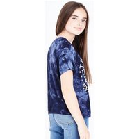 Teens Navy Tie Dye Bronx Logo T-Shirt New Look