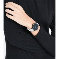 Bright Blue Coated Strap Watch New Look