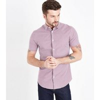 Red Gingham  Short Sleeve Muscle Fit Shirt New Look