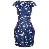 Blue Vanilla Navy Floral Print Tulip Dress New Look