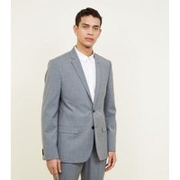 Grey Prince Of Wales Check Blazer New Look