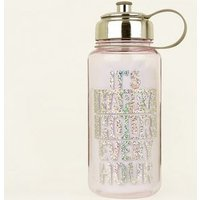 Lilac Happy Hour Slogan Water Bottle New Look