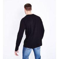 Black Long Sleeve Crew Neck T-Shirt New Look