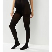 Maternity 2 Pack Black 100 Denier Tights New Look