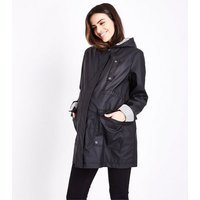 Maternity Black Stripe Lined Anorak New Look
