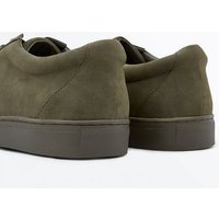 Khaki Faux Suede Lace Up Trainers New Look