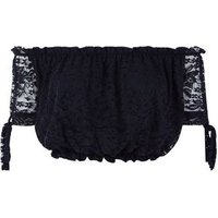 Cameo Rose Black Lace Bardot Crop Top New Look