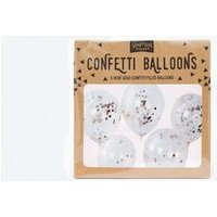 Rose Gold Confetti Filled Balloons New Look