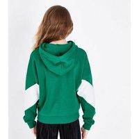 Teens Green Brooklyn Stripe Front Hoodie New Look