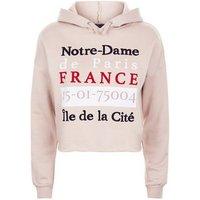 Teens Light Brown Notre-Dame Slogan Hoodie New Look