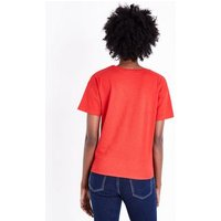 Red Tie Front T-Shirt New Look