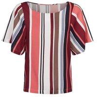 JDY Multicoloured Stripe Woven T-Shirt New Look