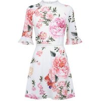 Parisian White Floral Lace Trim Tea Dress New Look
