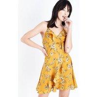 Urban Bliss Mustard Floral Print Dress New Look