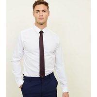 Men's Burgundy Tie New Look