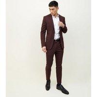 Burgundy Skinny Trousers New Look