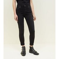 Black Rinse Wash Skinny Jenna Jeans New Look