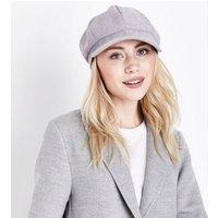 Grey Corduroy Baker Boy Hat New Look