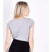 Petite Grey Je T'aime T-Shirt New Look