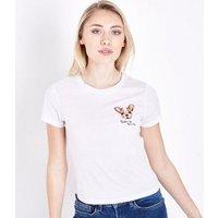 Petite White Pardon My Frenchie Slogan T-Shirt New Look
